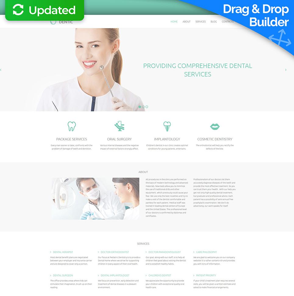 Homepage-Vorlage für Zahnklinik