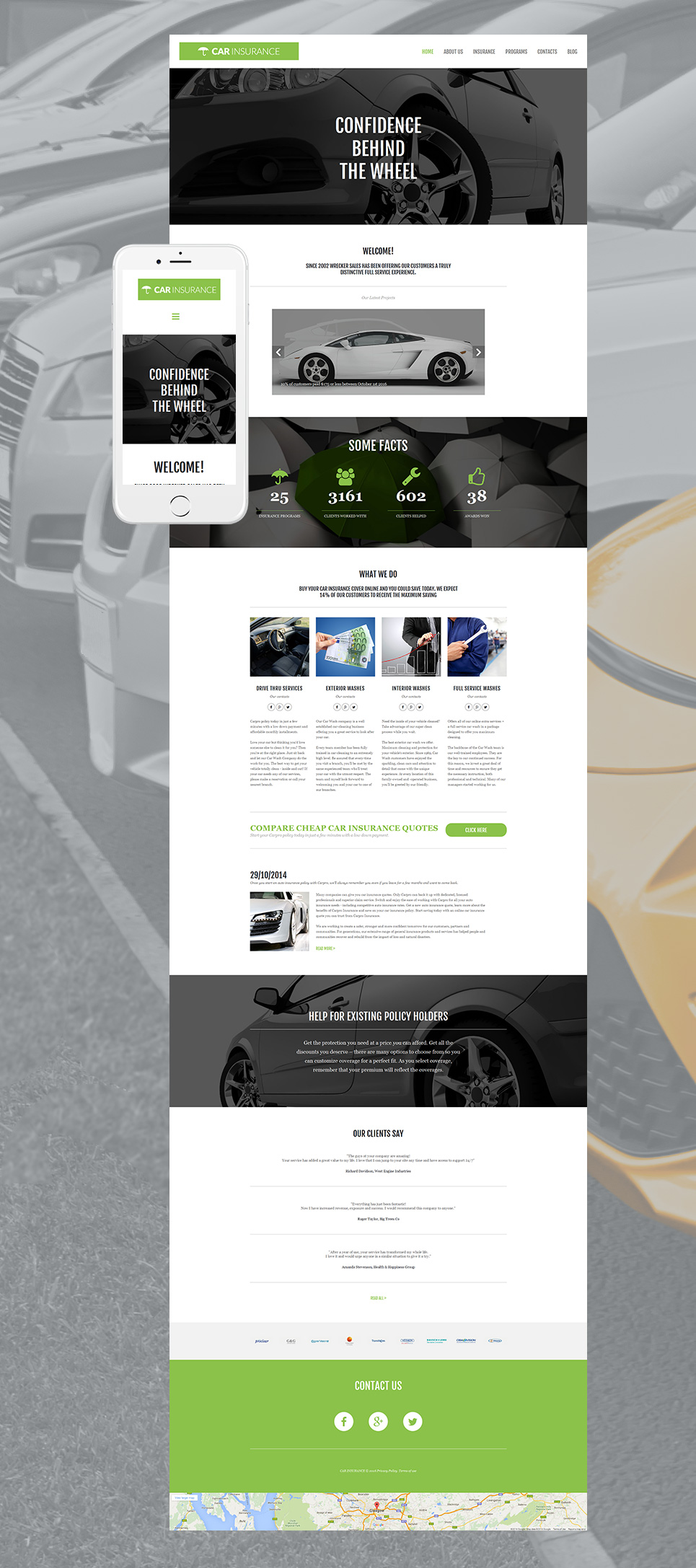 Automobile web design with blog functionality