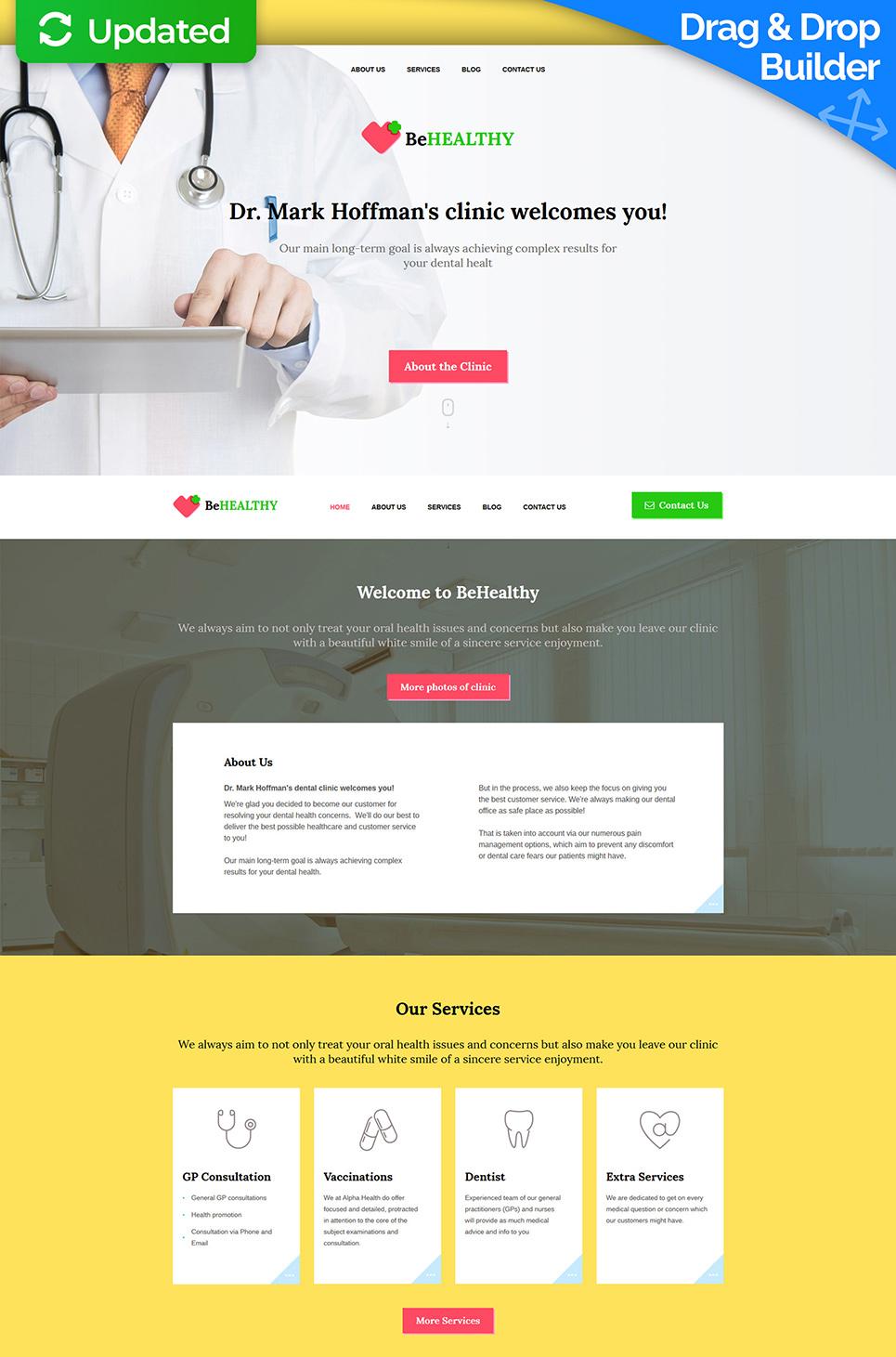 Diseño de sitio web medicinal para las clínicas privadas - image