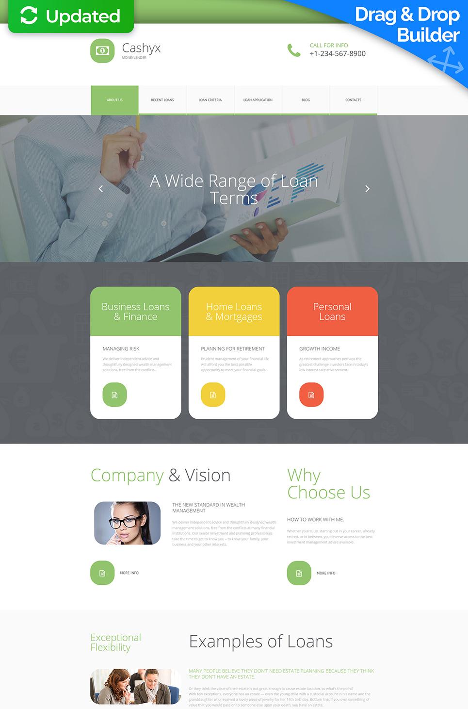 Minimalistic design for business site