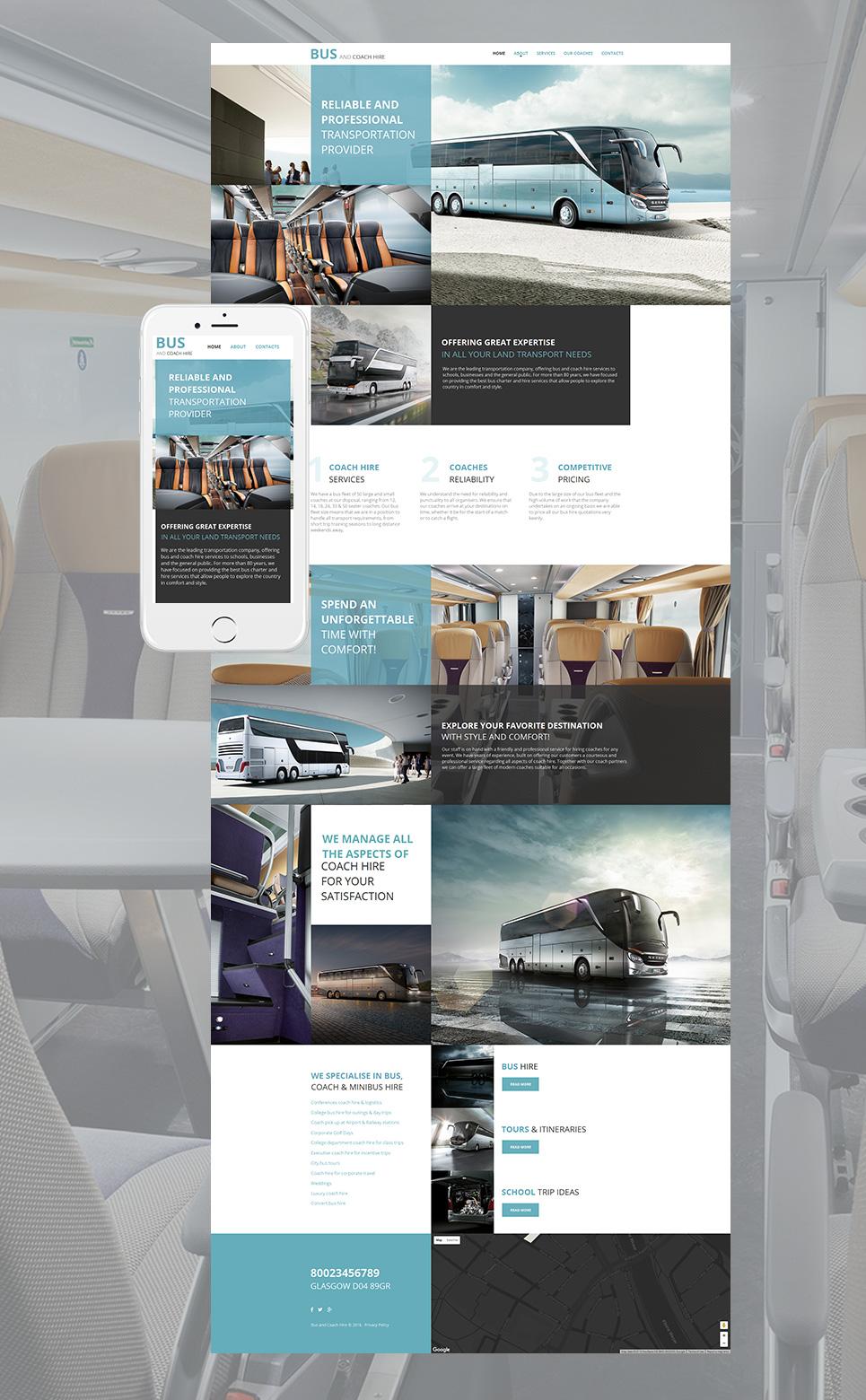 Transportation MotoCMS HTML Template #58743 - image