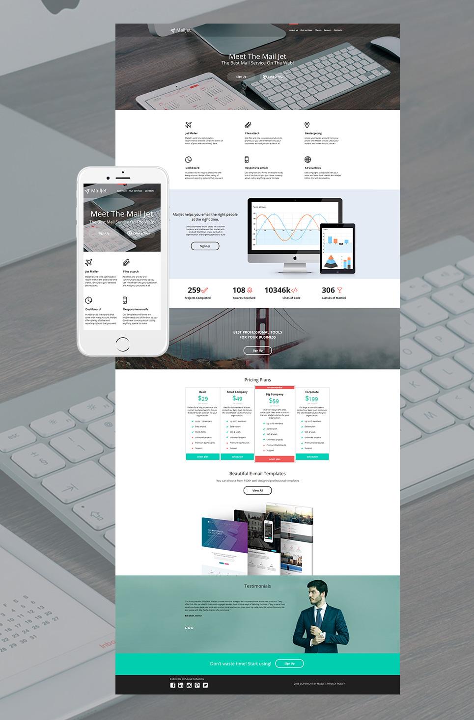 MotoCMS HTML Plantilla #58746 de categoría Internet - image