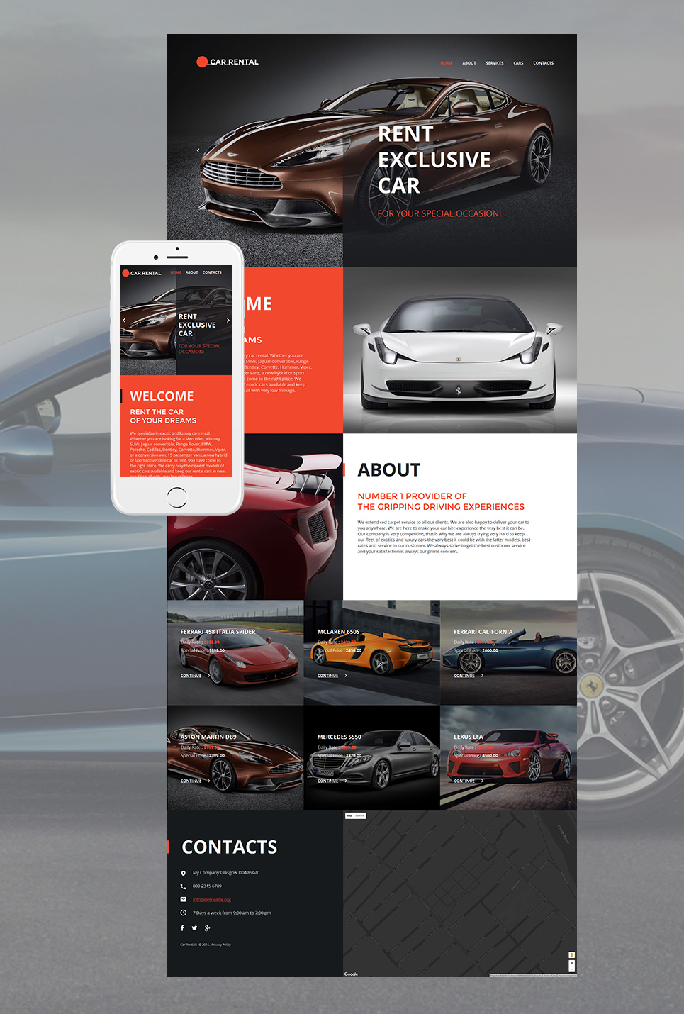 Cars MotoCMS HTML Template #58747 - image