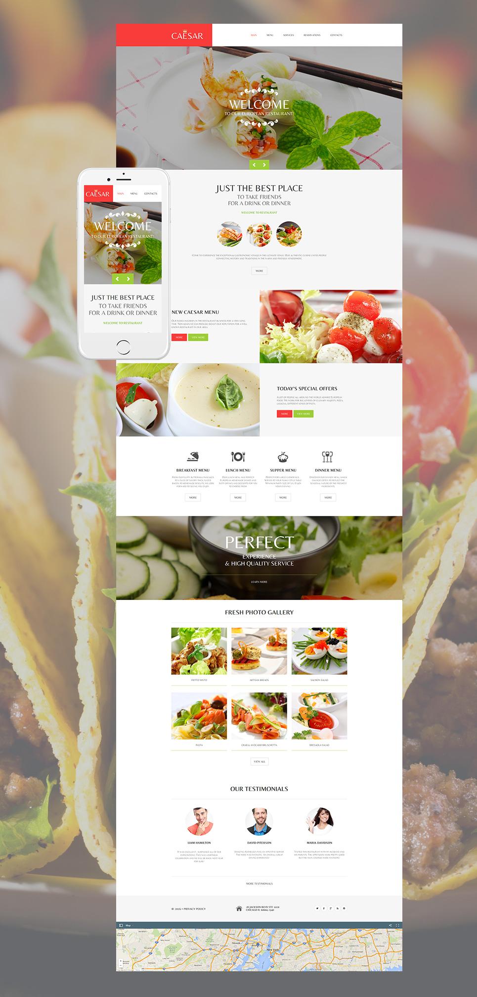 MotoCMS HTML Plantilla #58751 de categoría Restaurantes, bares y cafés - image