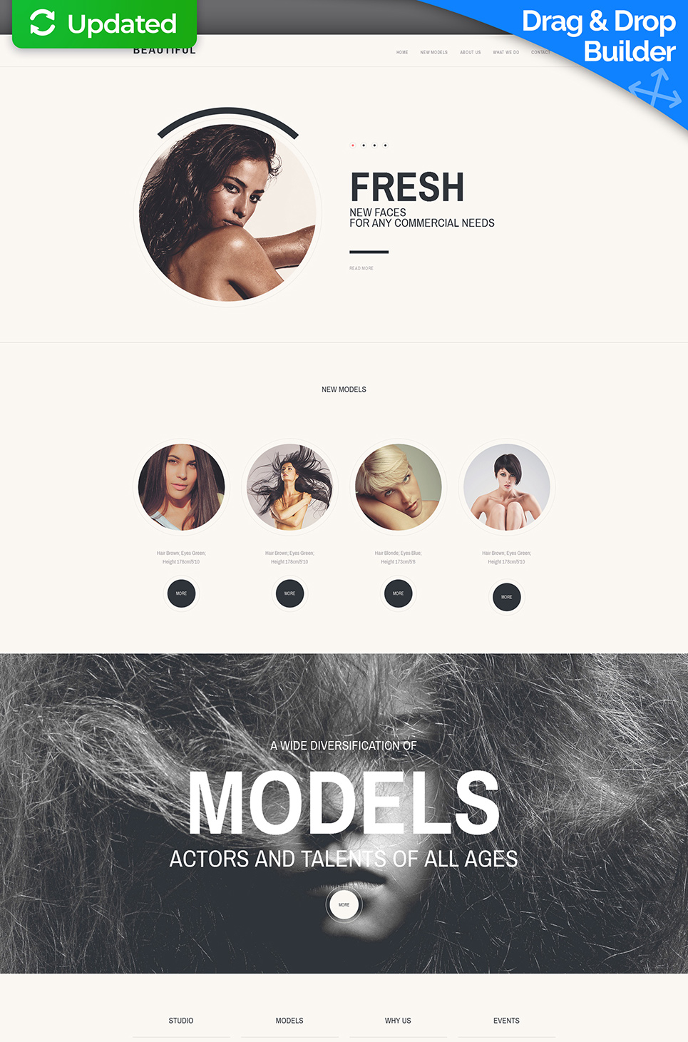 Responsive site for models