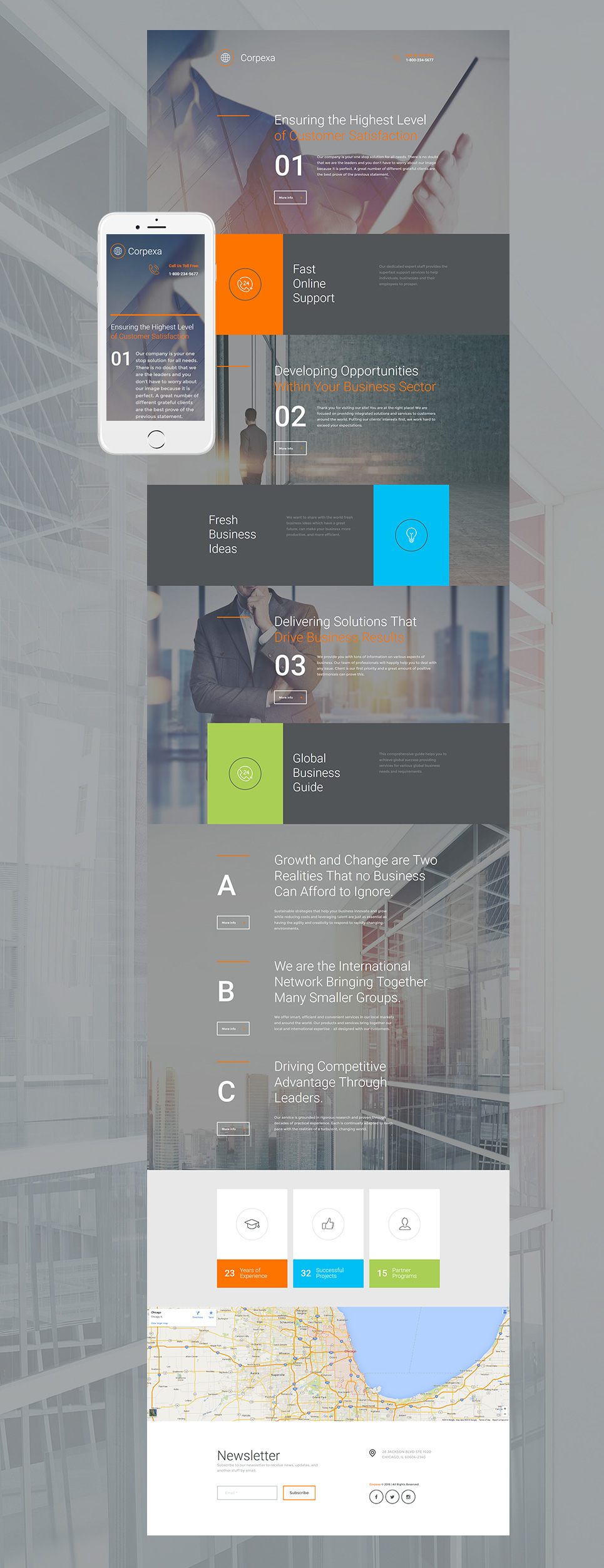 Innovative web design for commercial companies