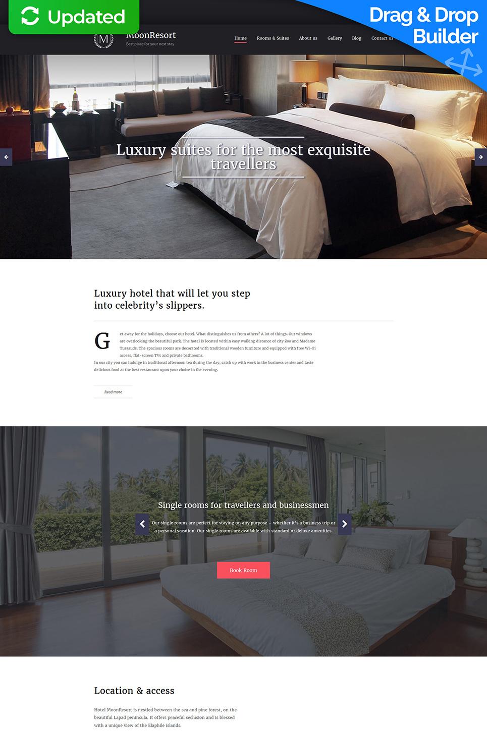 MotoCMS 3 Plantilla #58807 de categoría Hoteles - image