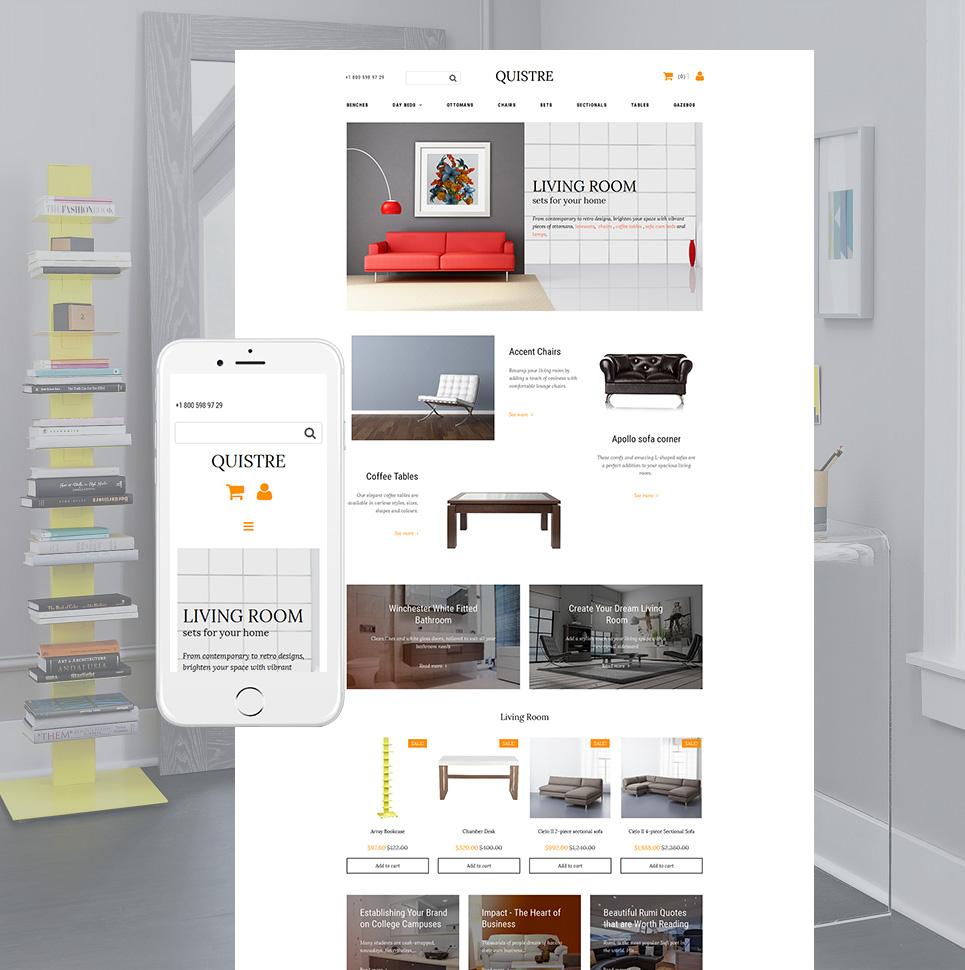 La plantilla eficaz de comercio electrónico #58816 de categoría Interiores y muebles - image