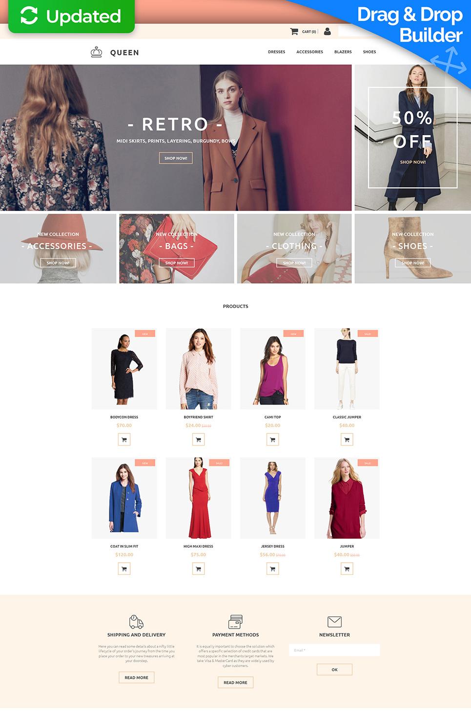 La plantilla eficaz de comercio electrónico #58817 de categoría Moda y Belleza - image