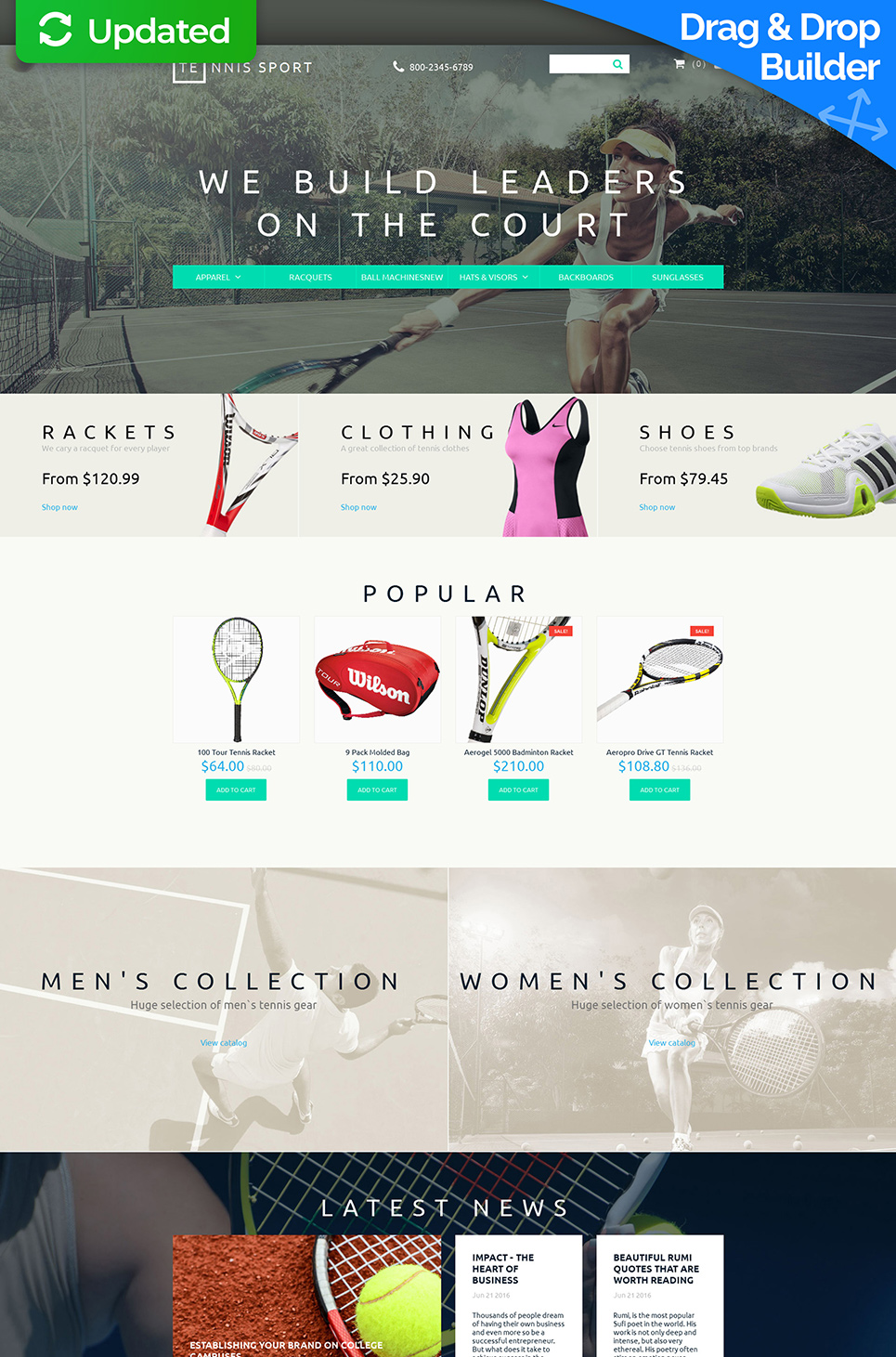 Sport Responsive Ecommerce Template #58835 - image