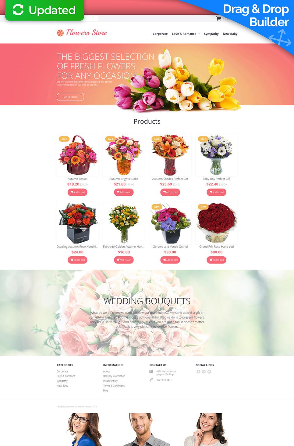 Responsywny szablon komercyjny #58838 z kategorii Florystyka - image