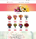 58838 Flowers, Most Popular MotoCMS Ecommerce Templates