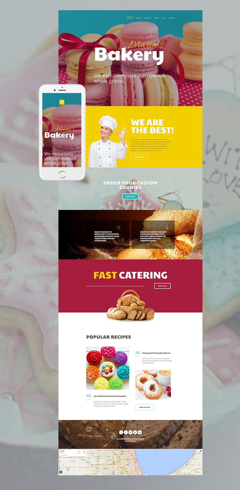 MotoCMS 3 Plantilla #58856 de categoría Alimentos y cocina - image