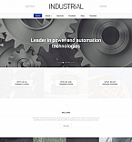 58857 Industrial, Most Popular Moto CMS 3 Templates