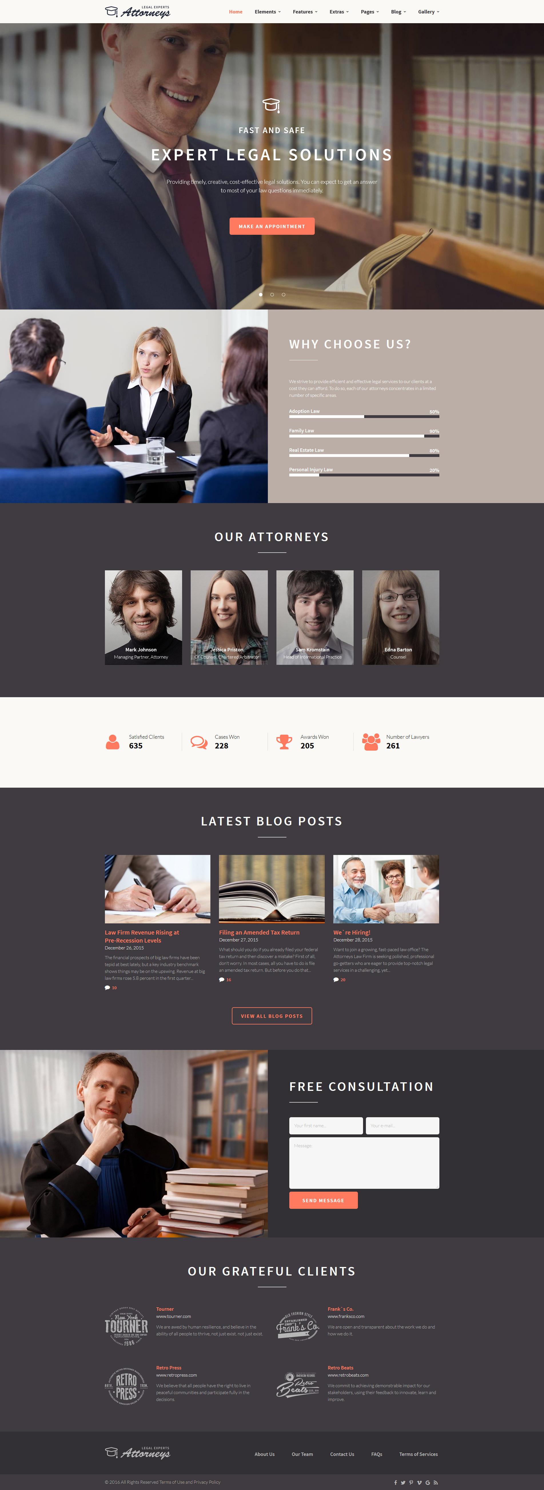 law firm responsive website template 58966. Black Bedroom Furniture Sets. Home Design Ideas