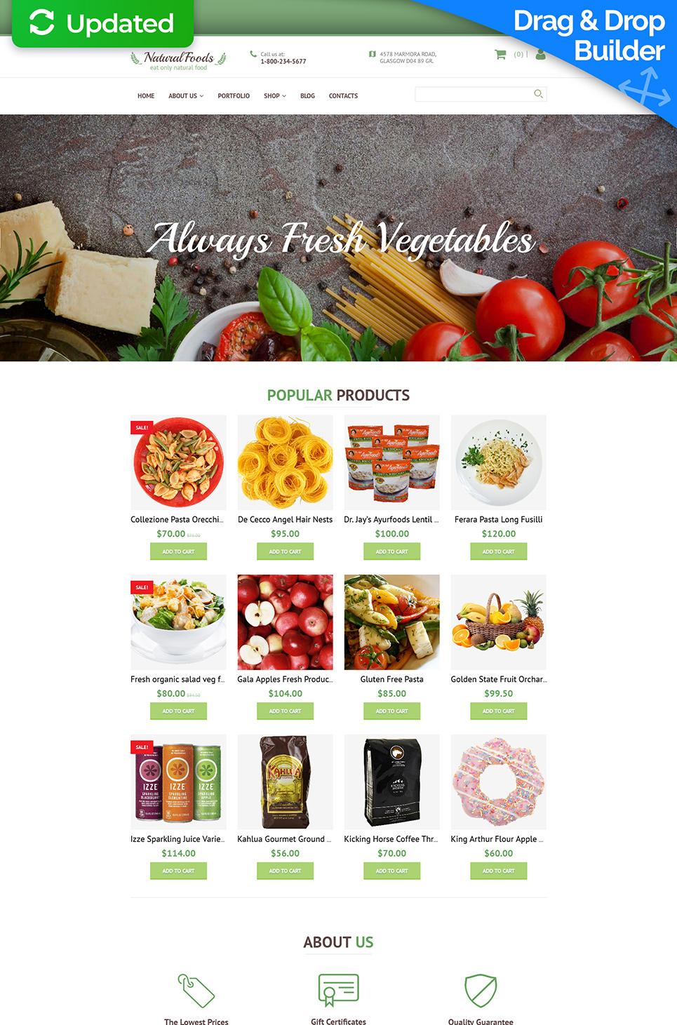 Responsywny szablon komercyjny #58994 z kategorii Jedzenie & Napoje - image