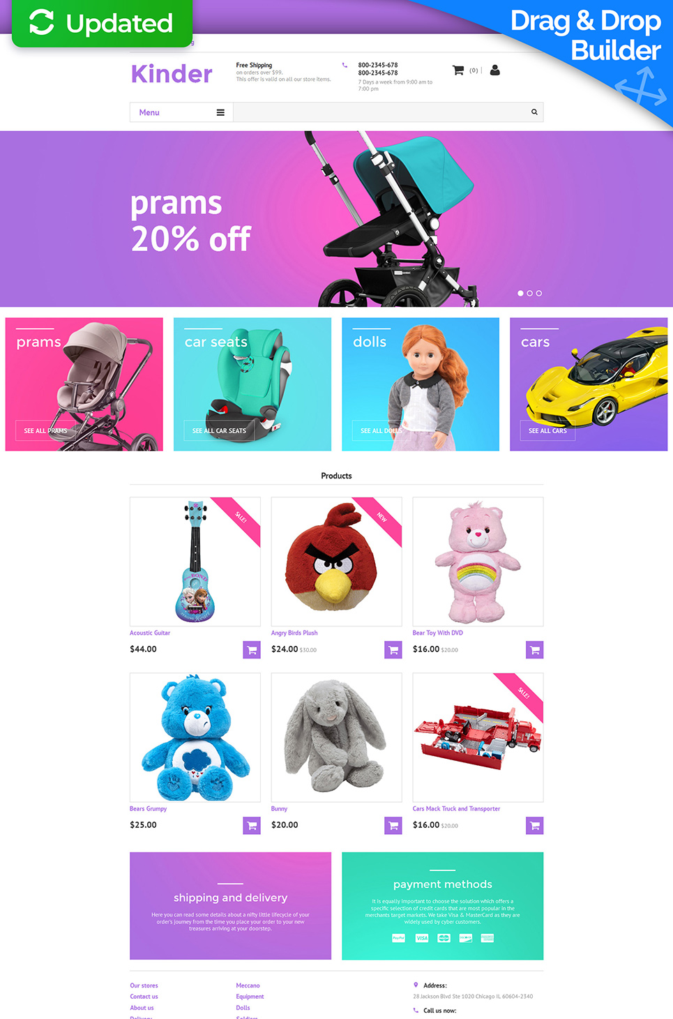 Family Responsive Ecommerce Template #58997 - image