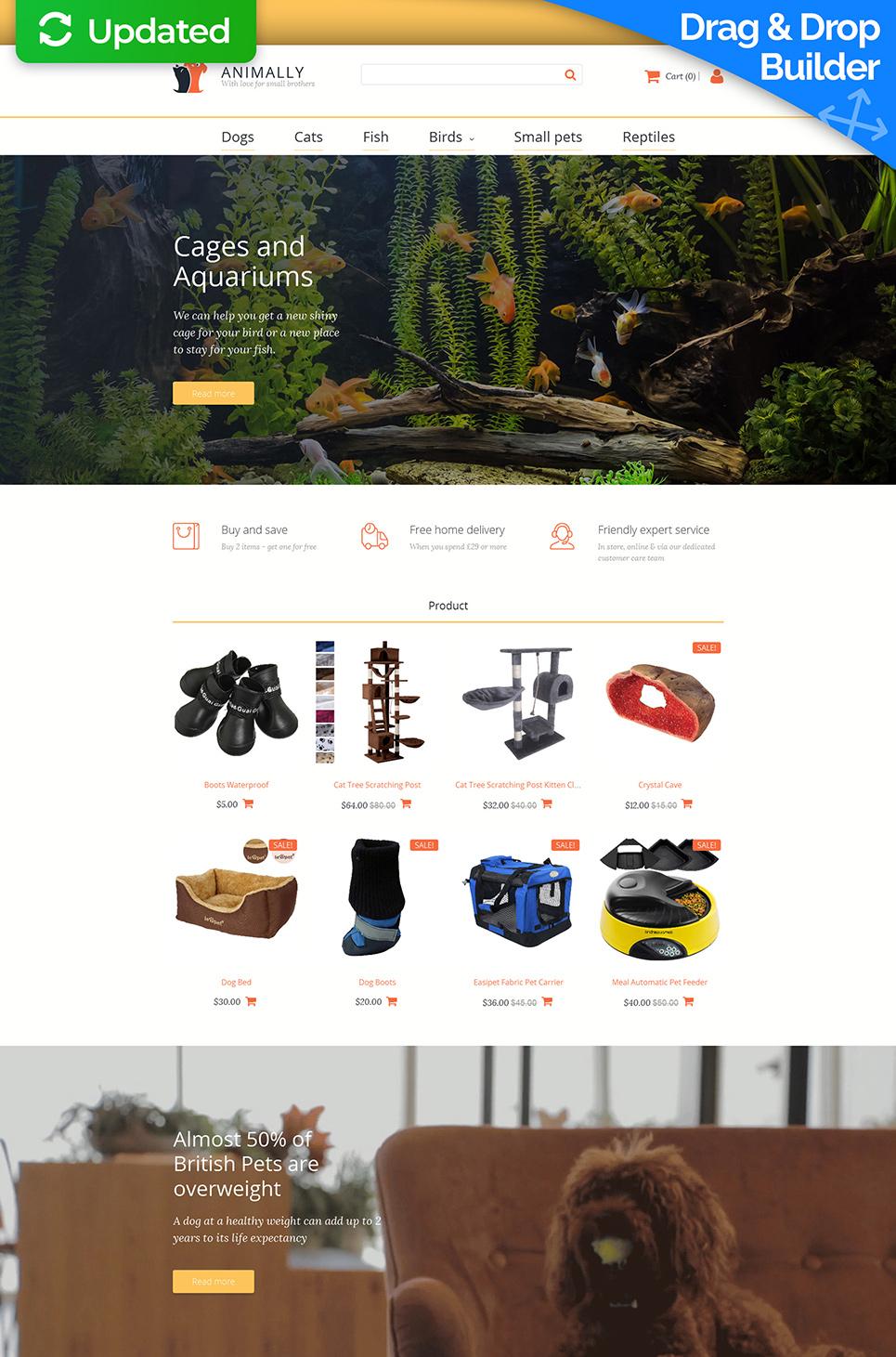 La plantilla eficaz de comercio electrónico #58998 de categoría Animales - image