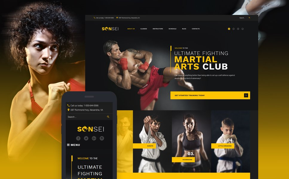 MMA WordPress Theme