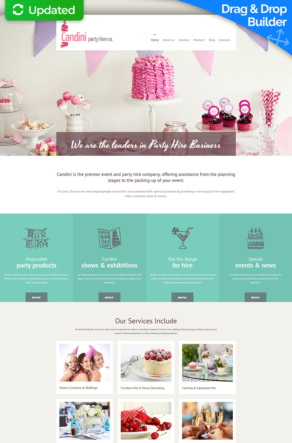 Event planner site theme