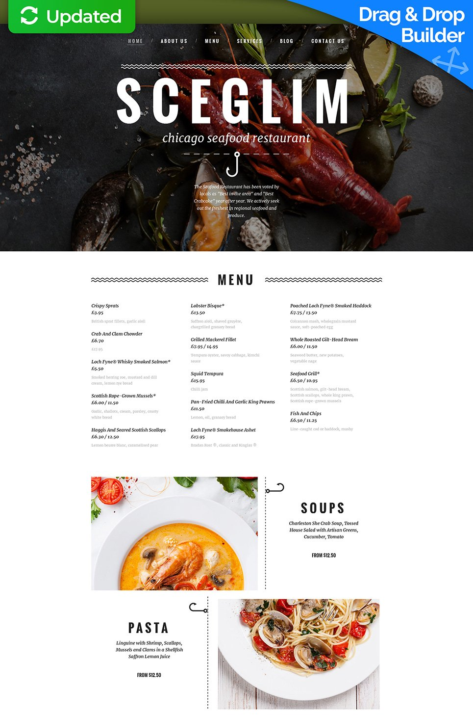 Responsive site for cafe