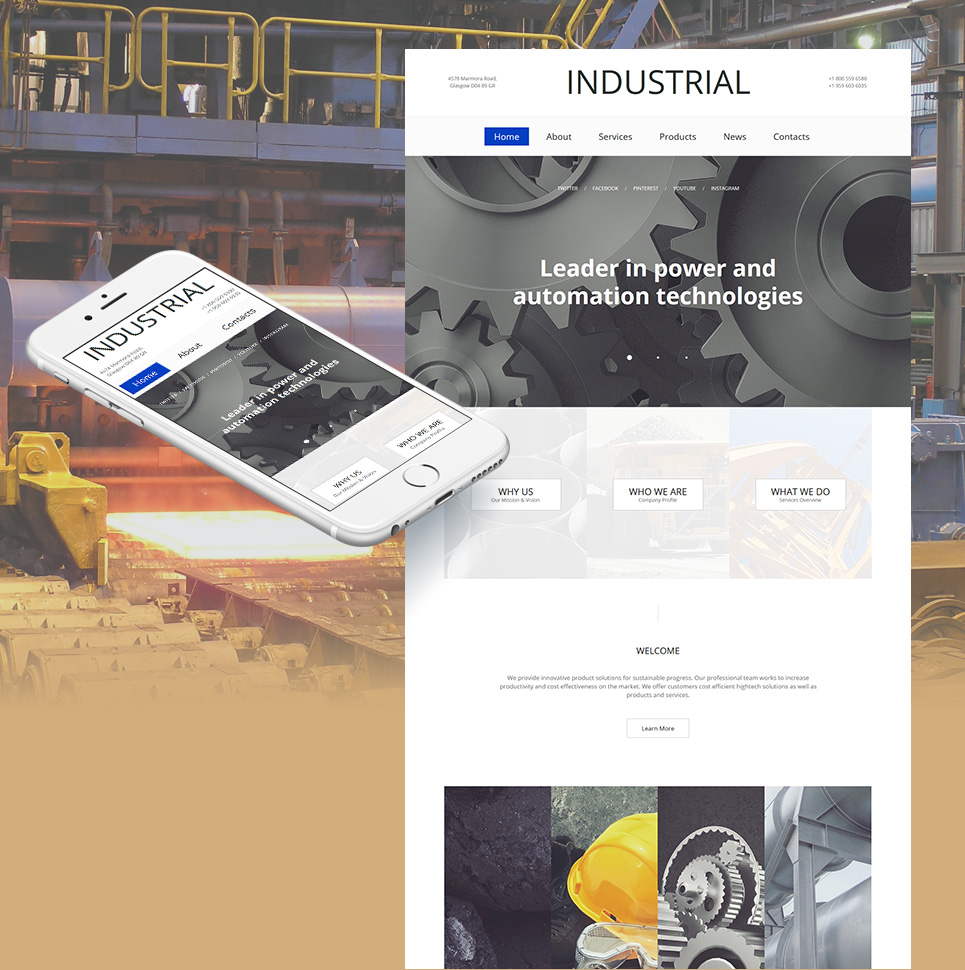 Industrial MotoCMS HTML Template #59075 - image
