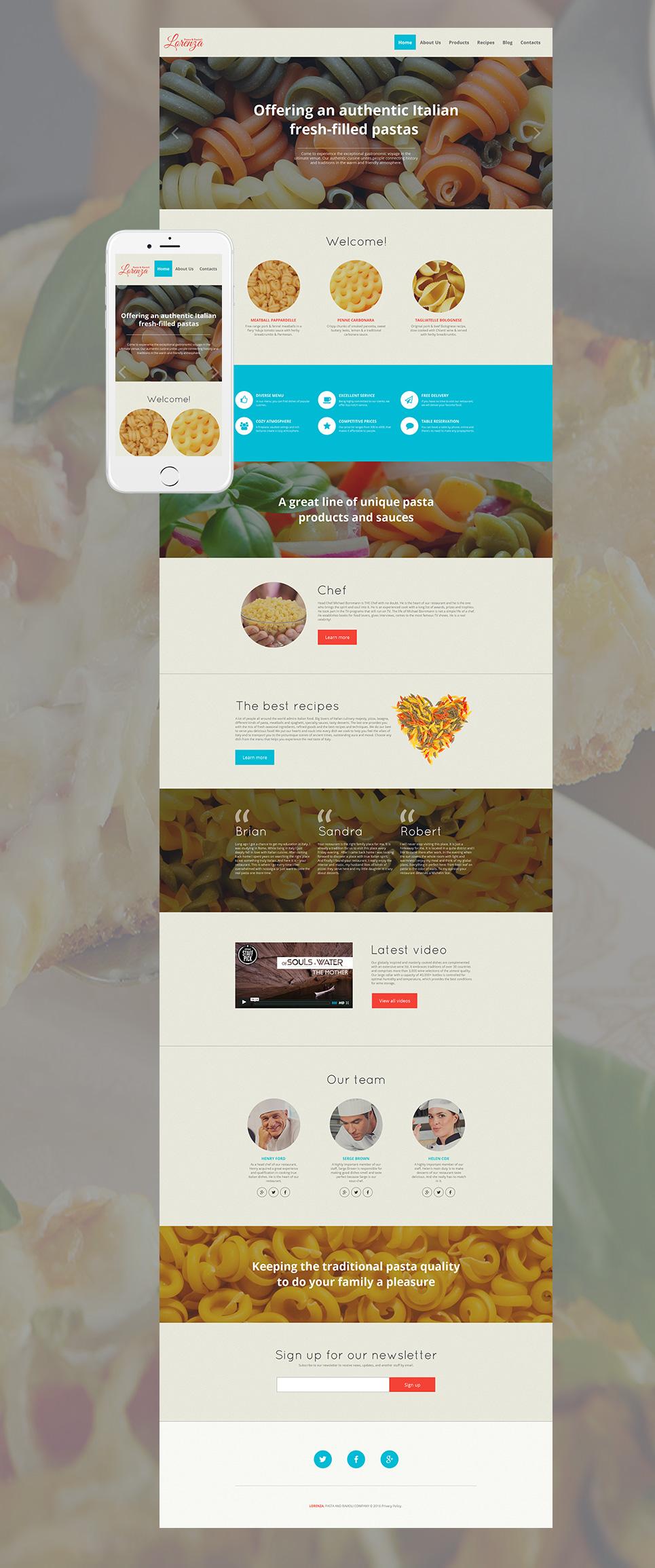 MotoCMS HTML Szablon #59079 z kategorii Jedzenie & Napoje - image