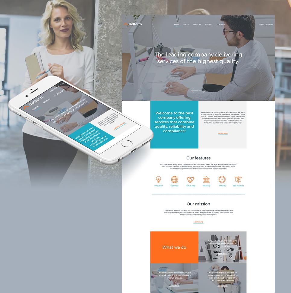 MotoCMS HTML Шаблон #59080 из категории Бизнес - image