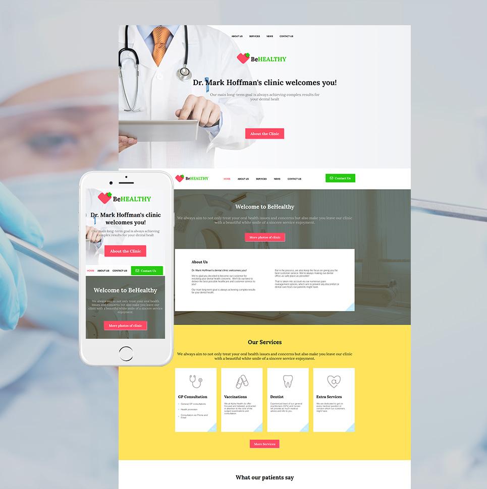 MotoCMS HTML Plantilla #59082 de categoría Medicina - image