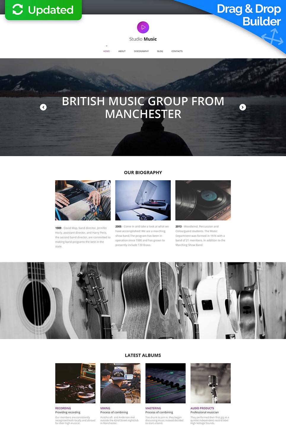 MotoCMS 3 Plantilla #59135 de categoría Música - image