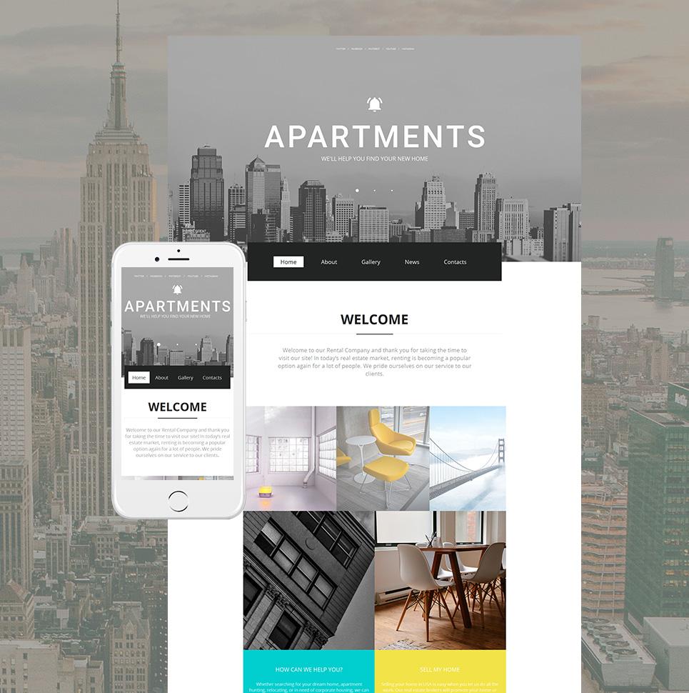 MotoCMS HTML Plantilla #59155 de categoría Inmobiliarias - image