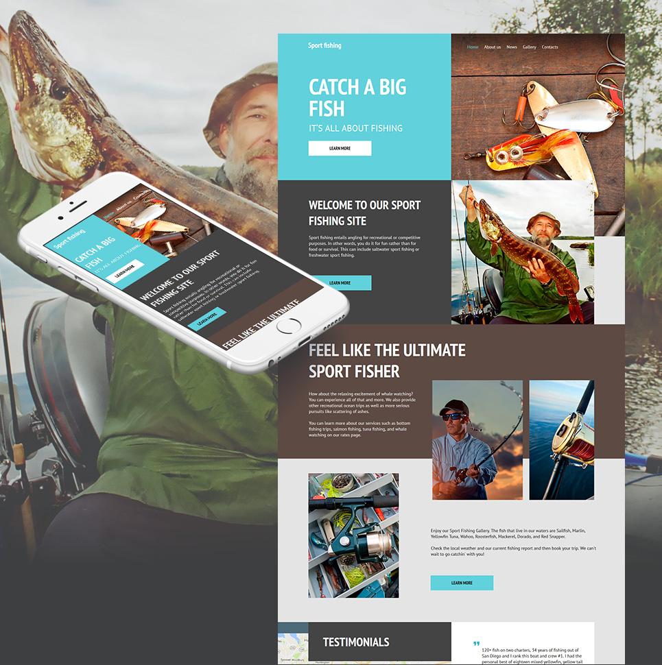 MotoCMS HTML Plantilla #59161 de categoría Deportes - image
