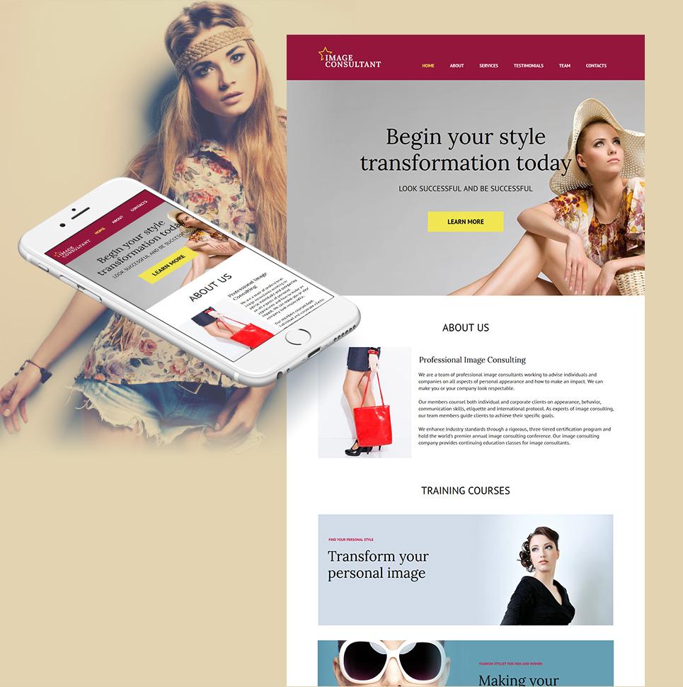 MotoCMS HTML Plantilla #59162 de categoría Moda y Belleza - image