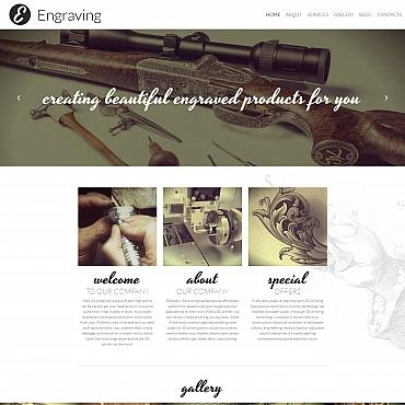 Купить Шаблон сайта студии гравировки - Engraving. Купить шаблон #59277 и создать сайт.