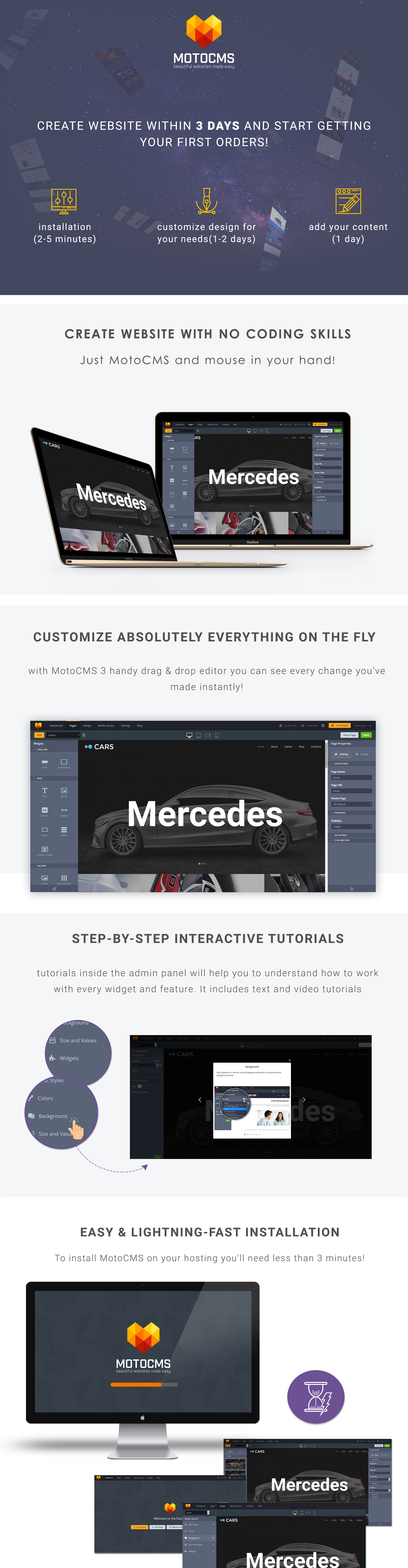 Car Dealer Responsive Moto CMS 3 Template