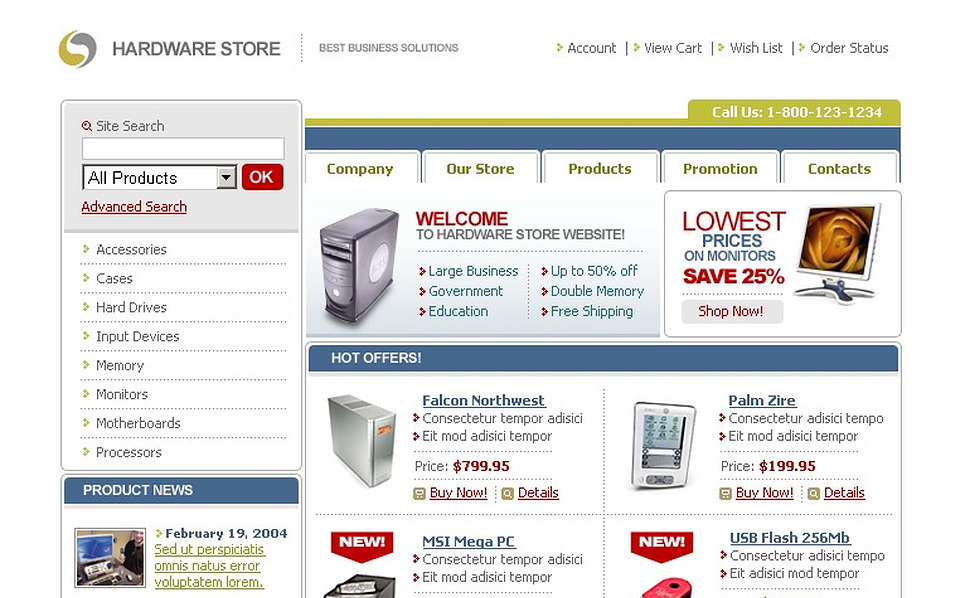 Electronics Store Website Template New Screenshots BIG