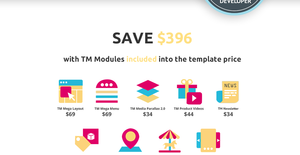 TM modules included in this theme