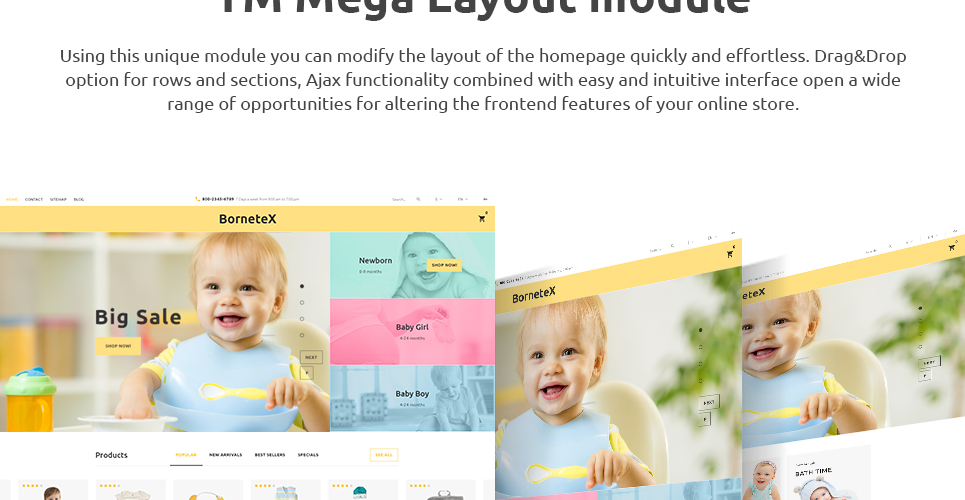 Mega Layout Module included in this theme