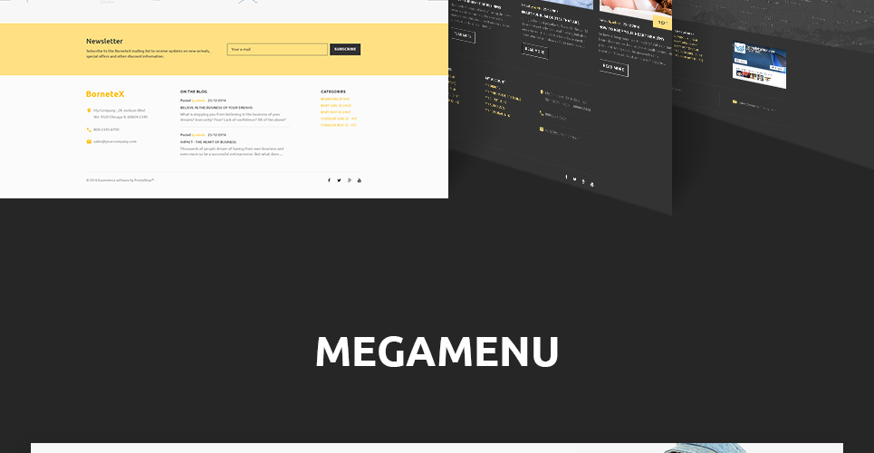 Mega menu implemented in this theme