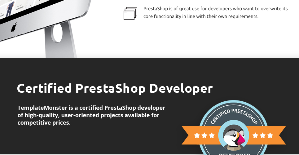 This Prestashop theme is developed by professional developers