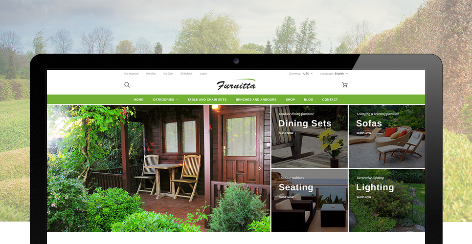 Furnitta – Elegant Outdoor Furniture Store Responsive Prestashop Theme