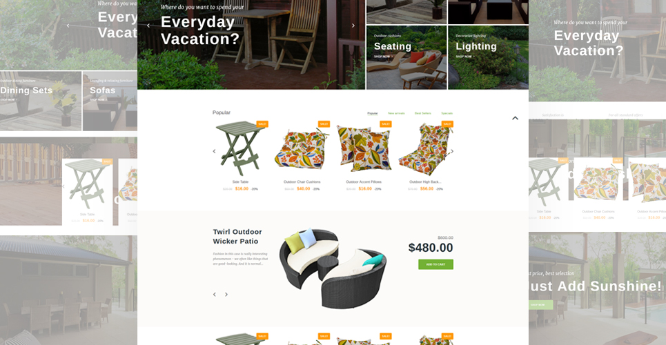 Furniture Store Prestashop Theme demos
