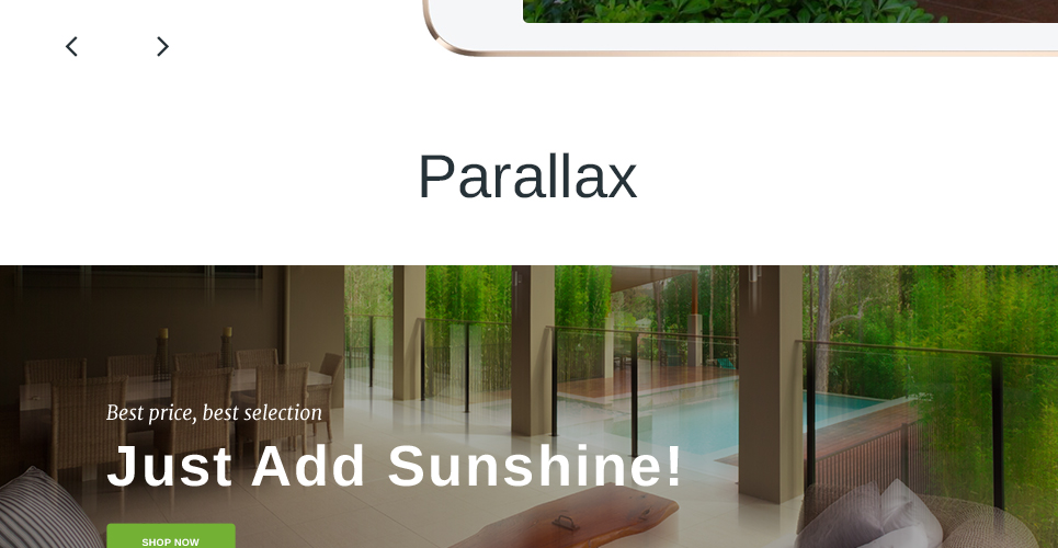 Furniture Store Prestashop Theme with Parallax Scrolling Functionality