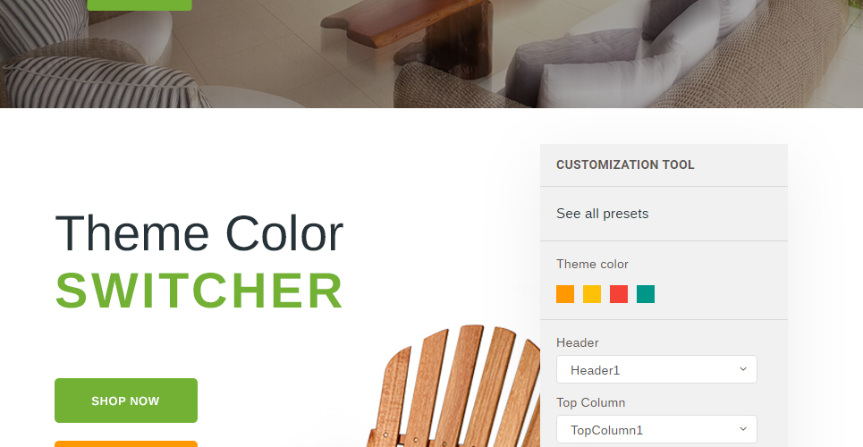 Furniture Store Prestashop Theme with Color Switcher