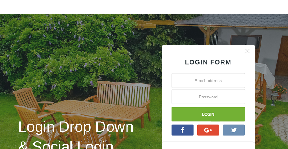 Furniture Store Prestashop Theme with login using facebook, gmail and social networks