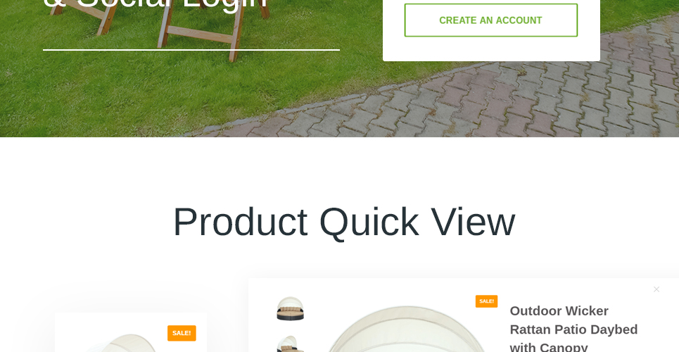 Furniture Store Prestashop Theme with Product quick view on roll over of product