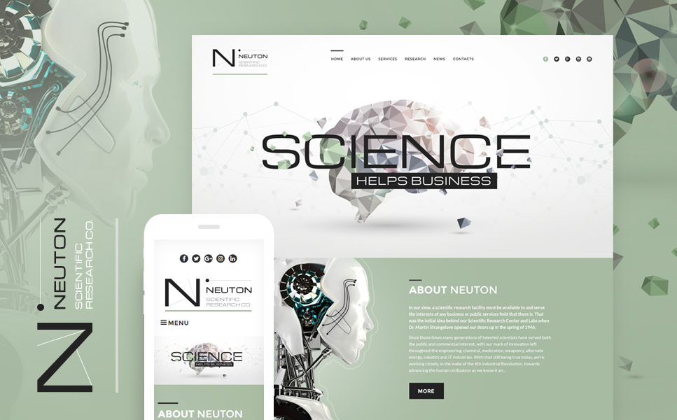 Science Lab Responsive WordPress Theme