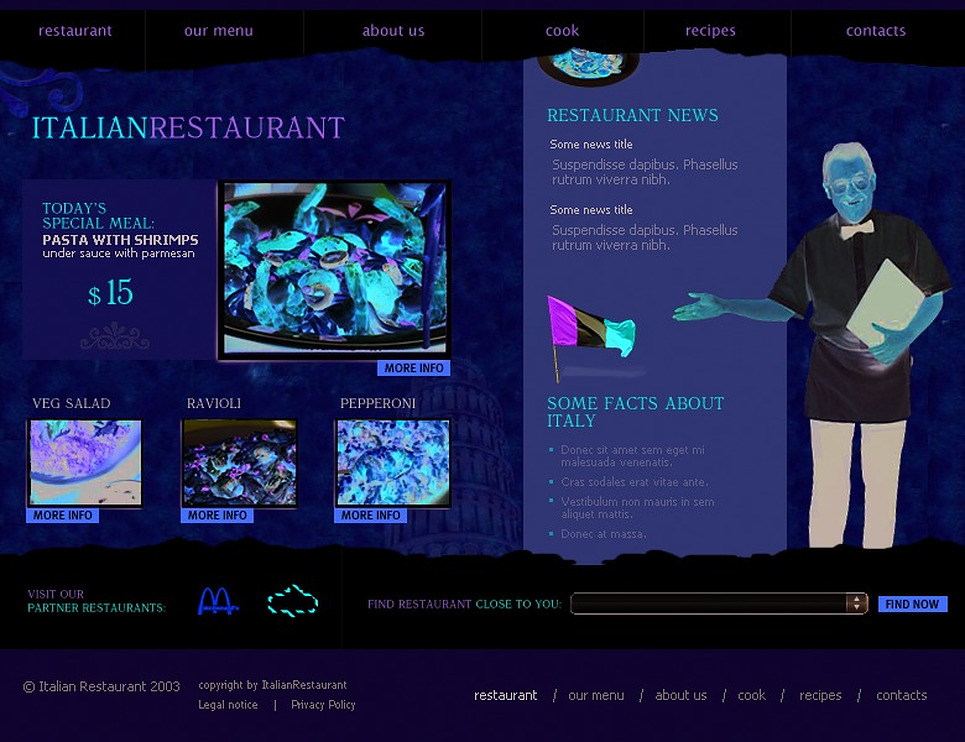 Italian Restaurant Website Template New Screenshots BIG