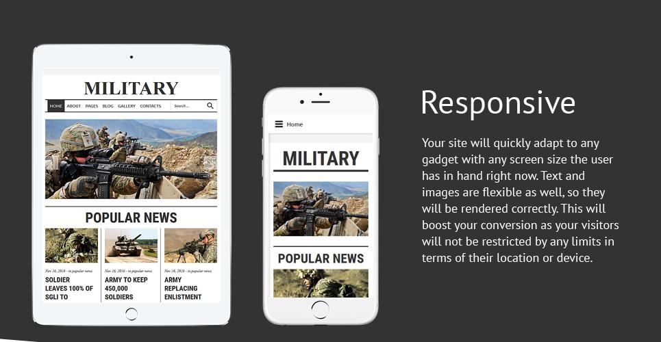 Military Rank  Responsive Joomla Template