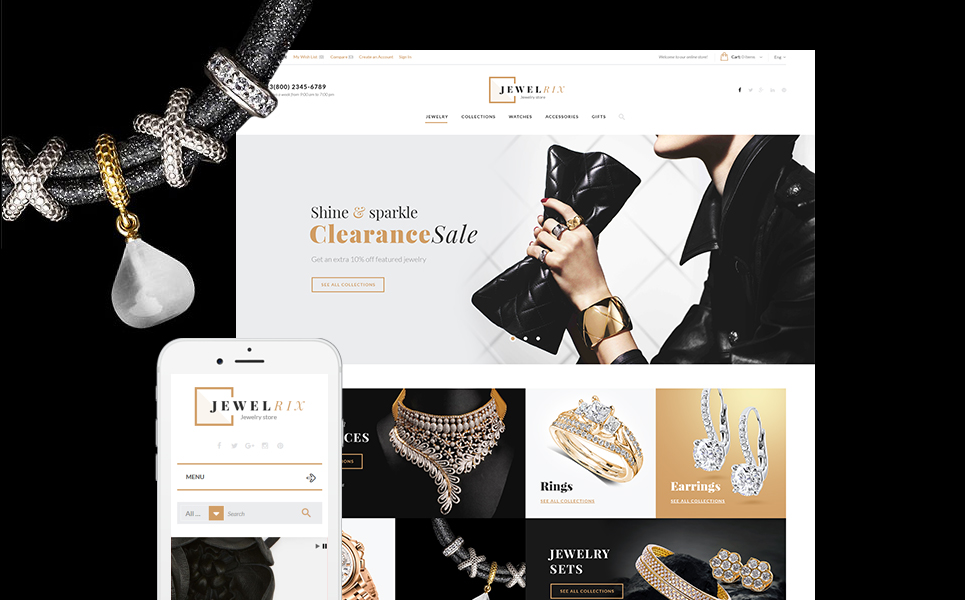 Jewelry Store PrestaShop Template